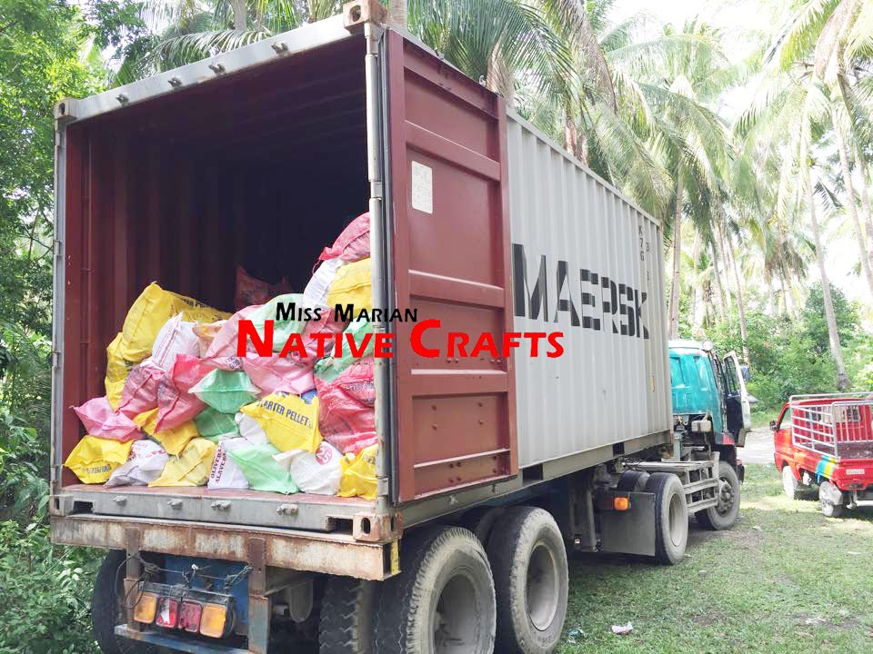 Loading of Lauhala Mats into the container van