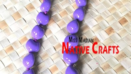 Purple Kukui Nuts Leis, Necklaces
