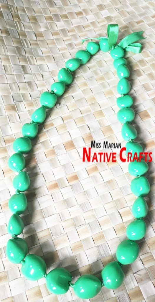 Yellow Green Kukui Nuts Necklaces